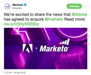 Marketo Announces Adobe Acquisition