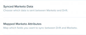 Drift Marketo Integration Screenshot