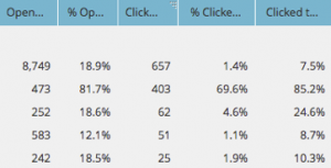 Customer Communication Example: Marketo Email Report