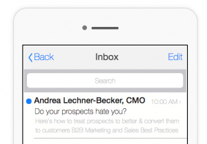 B2B Newsletter-Inbox Preview