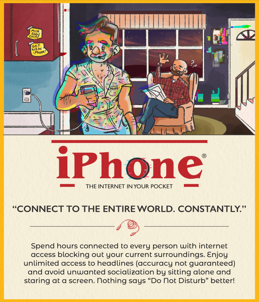 iPhone  Reimagined as a Vintage Ad