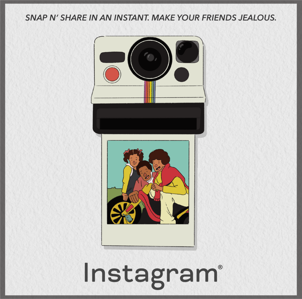 Instagram Reimagined as a Vintage Ad
