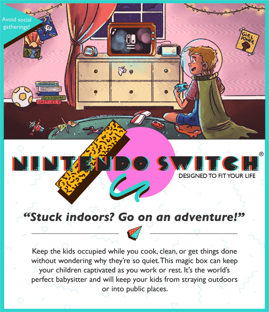 Nintendo Switch Reimagined as a Vintage Ad