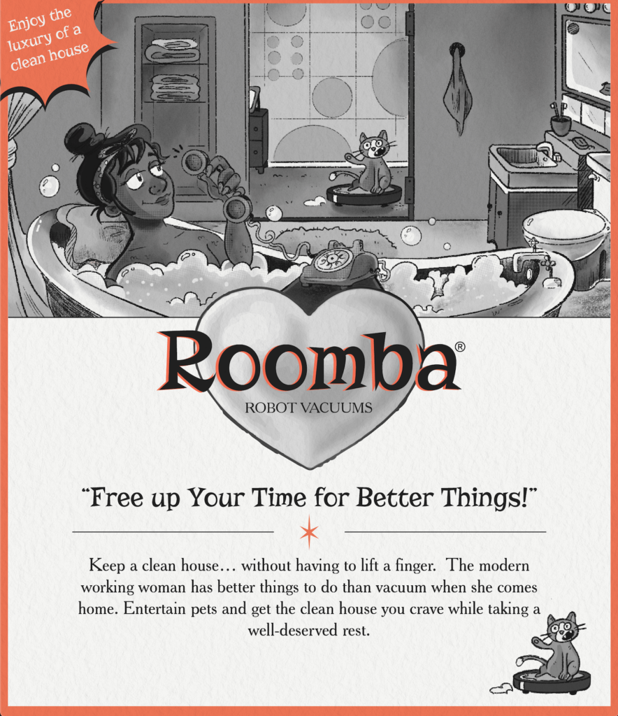 Roomba Reimagined as a Vintage Ad
